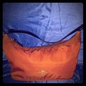 Merlot Prada Hobo Bag